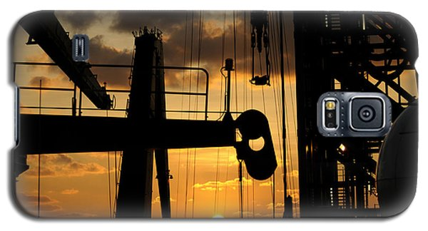 Sunset Viewed From An Oil Rig Galaxy S5 Case