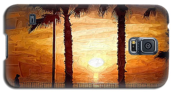 Sunset Walk Galaxy S5 Case by Kirt Tisdale