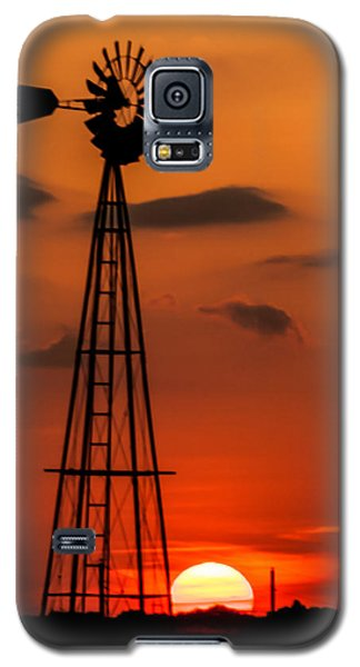 Sunset Windmill Galaxy S5 Case