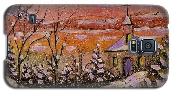Sunset Winter Church Galaxy S5 Case