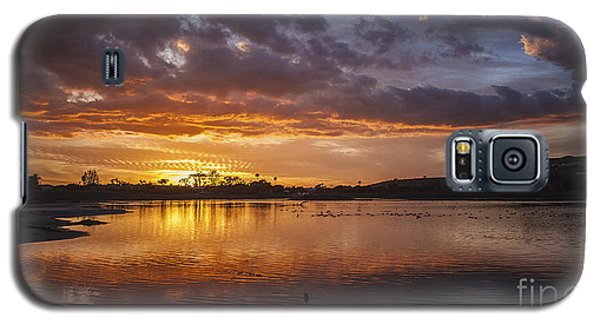 Sunset With Clouds Over Malibu Beach Lagoon Estuary Galaxy S5 Case
