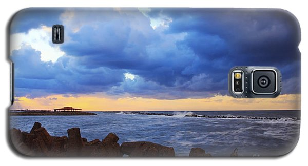 Galaxy S5 Case featuring the photograph Sunset With Cloudy Sky  by Mohamed Elkhamisy