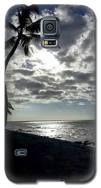 Sunset With Palm Trees Galaxy S5 Case by Pamela Walton