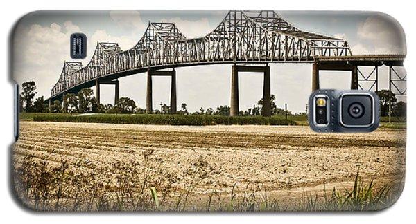 Galaxy S5 Case featuring the photograph Sunshine Bridge Mississippi Bridge by Ray Devlin