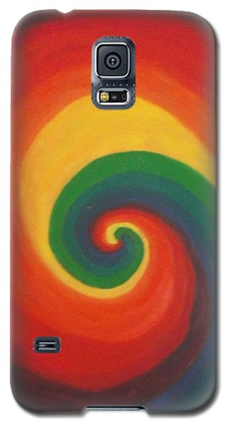 Galaxy S5 Case featuring the painting Sunshine Daydream by Thomasina Durkay