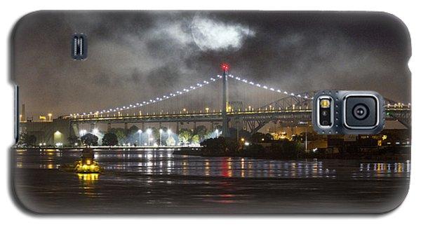 Super Moon And Triboro Bridge Galaxy S5 Case