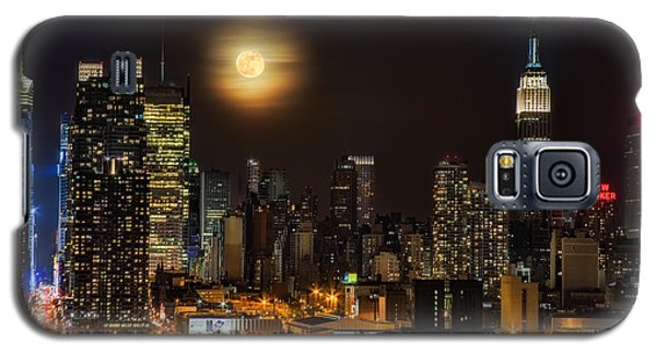 Super Moon Over Nyc Galaxy S5 Case
