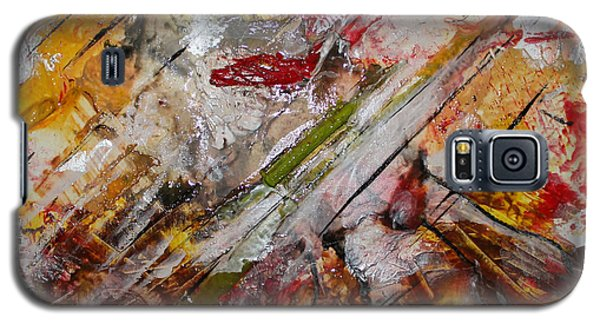 Galaxy S5 Case featuring the painting Superhero Meltdown by Lucy Matta