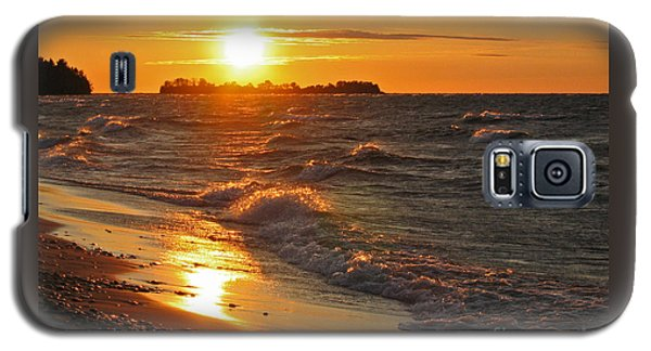 Galaxy S5 Case featuring the photograph Superior Sunset by Ann Horn