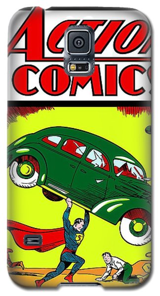 Superman Comic Book -1938 Galaxy S5 Case by Doc Braham