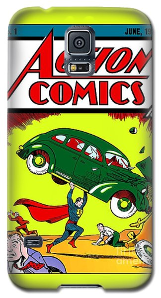 First Edition - Superman Comic Book  Galaxy S5 Case