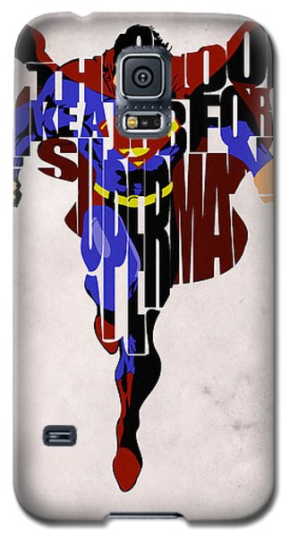 Superman - Man Of Steel Galaxy S5 Case by Ayse Deniz
