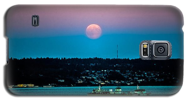 Supermoon Rises Over Puget Sound 2 Galaxy S5 Case