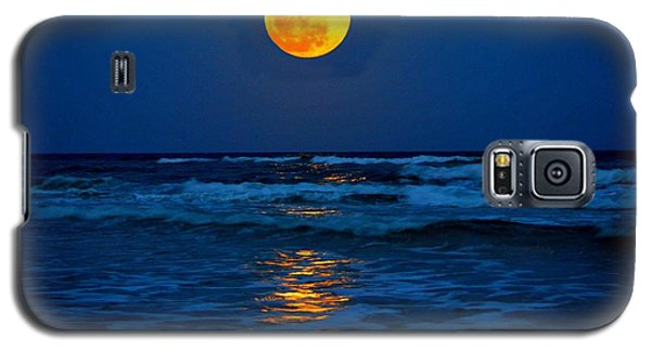 Supermoon Rising On Navarre Beach 20120505c Galaxy S5 Case by Jeff at JSJ Photography