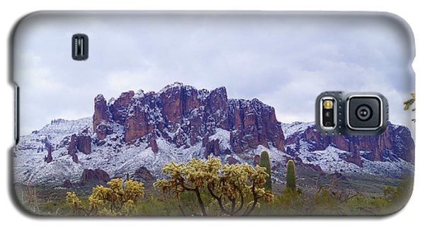Superstition Mountain Snow Galaxy S5 Case