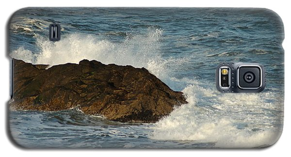 Galaxy S5 Case featuring the photograph Surf And Rocks by Ron Roberts