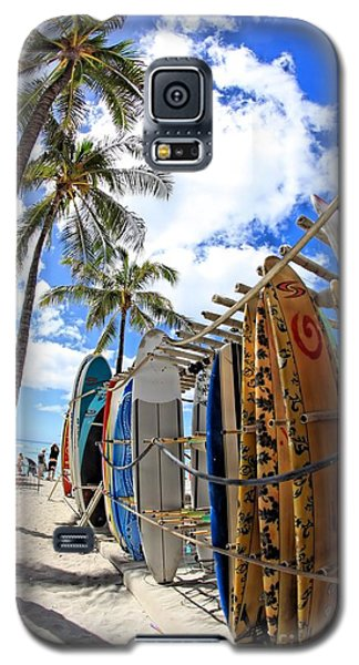 Surf And Sun Waikiki Galaxy S5 Case by DJ Florek