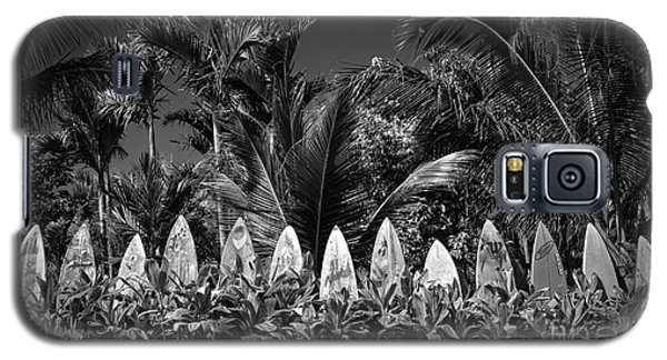 Surf Board Fence Maui Hawaii Black And White Galaxy S5 Case