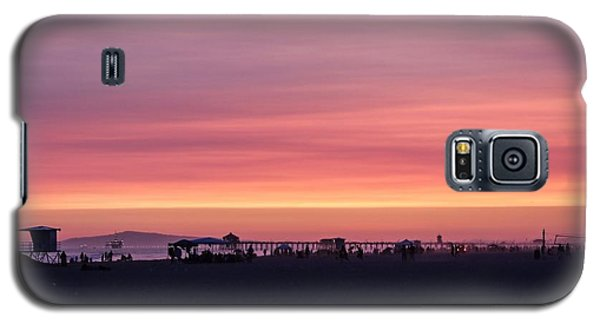Galaxy S5 Case featuring the photograph Surf City Sunset by Kevin Ashley