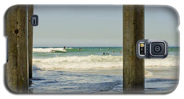 Surf Framed Under The Pier Galaxy S5 Case by MaryJane Armstrong