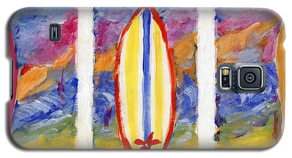 Galaxy S5 Case featuring the painting Surfboards 1 by Jamie Frier