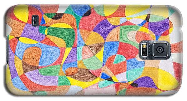 Galaxy S5 Case featuring the painting Abstract Dance Party  by Stormm Bradshaw