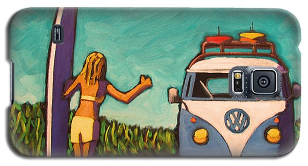 Surfer Girl And Vw Bus Galaxy S5 Case