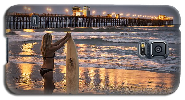 Surfer Girl At Oceanside Pier 1 Galaxy S5 Case