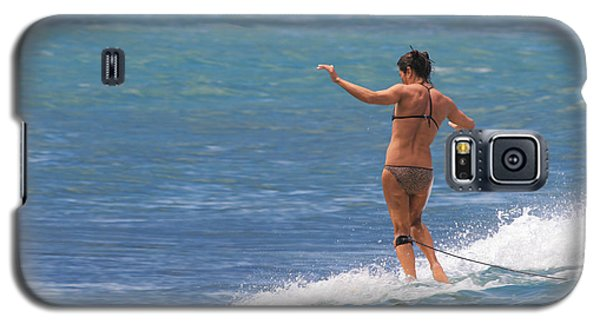 Surfer Girl On A Small Wave Galaxy S5 Case
