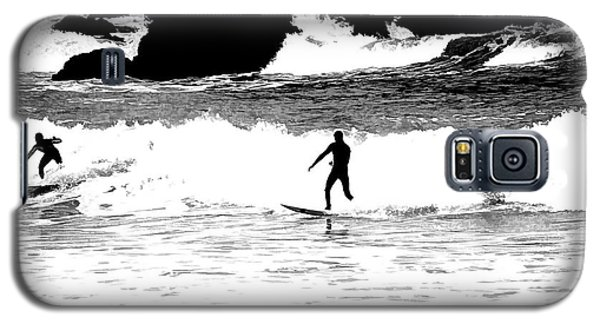 Galaxy S5 Case featuring the photograph Surfer Silhouette by Kathy Churchman