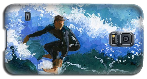 Surfin' Huntington Beach Pier Galaxy S5 Case by Alice Leggett