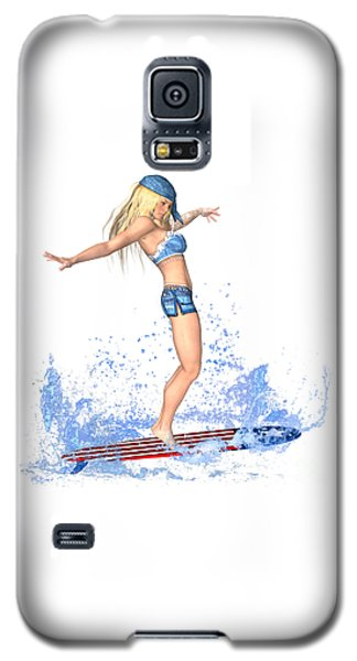 Surfing Girl Galaxy S5 Case