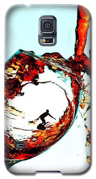 Surfing In A Cup Of Wine Little People On Food Galaxy S5 Case