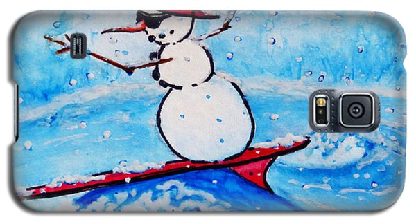 Surfing Snowman Galaxy S5 Case