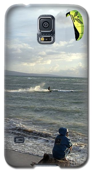 Galaxy S5 Case featuring the photograph Surfs Up by Mary Lou Chmura