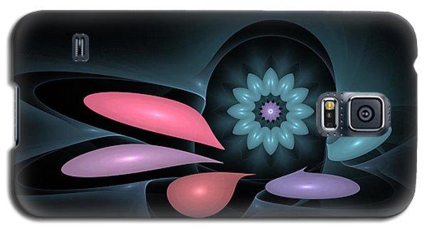 Galaxy S5 Case featuring the digital art Surprise Flower by Hanza Turgul