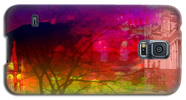 Galaxy S5 Case featuring the digital art Surreal Buildings  by Cathy Anderson