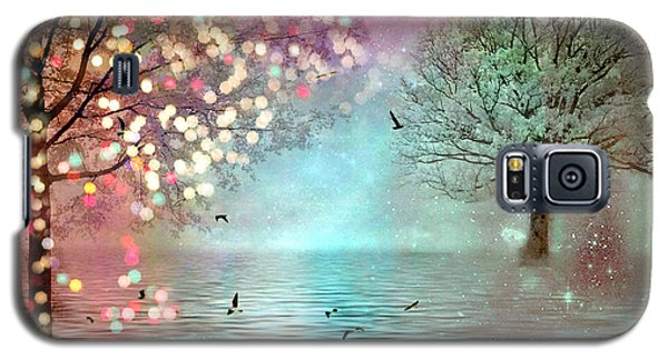 Nature Fantasy Trees Surreal Dreamy Twinkling Fantasy Sparkling Nature Trees Galaxy S5 Case