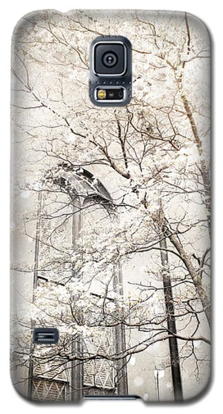 Surreal Dreamy Winter White Church Trees Galaxy S5 Case
