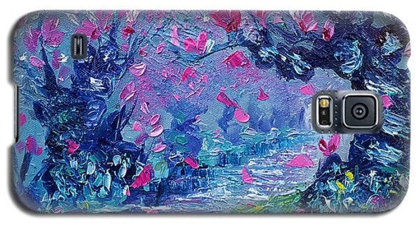 Surreal Landscape Art Pink Flower Tree Painting By Ekaterina Chernova Galaxy S5 Case