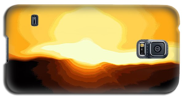 Surreal Mountain Sunset Galaxy S5 Case by Clarice  Lakota