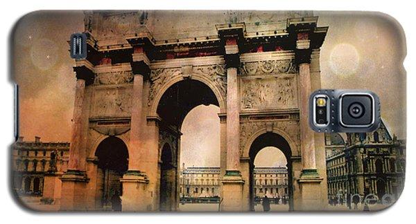 Louvre Museum Arc De Triomphe Louvre Arch Courtyard Sepia- Louvre Museum Arc Monument Galaxy S5 Case