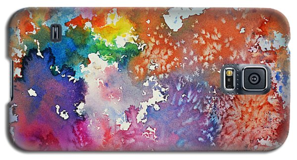 Galaxy S5 Case featuring the painting Surreal Sunset by Joan Hartenstein