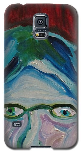 Galaxy S5 Case featuring the painting Surrounded By Seven Cats by Shea Holliman