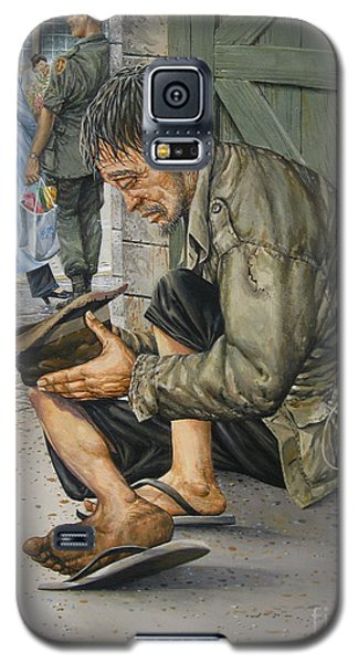 Galaxy S5 Case featuring the painting Survivors by Bob  George