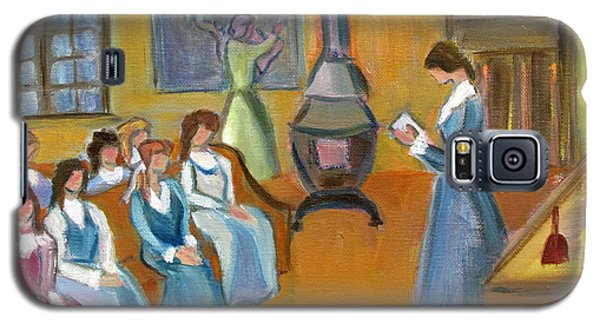 Galaxy S5 Case featuring the painting Susan B. Anthony Teaching In Canajoharie by Betty Pieper