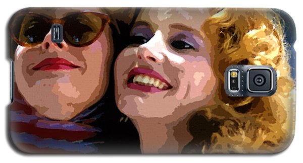 Susan Sarandon And Geena Davies Alias Thelma And Louis - Watercolor Galaxy S5 Case by Doc Braham