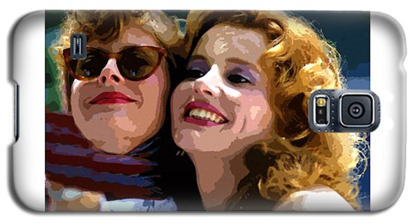 Susan Sarandon And Geena Davies Alias Thelma And Louis - Watercolor Galaxy S5 Case