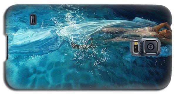 Galaxy S5 Case featuring the painting Susperia by Mia Tavonatti