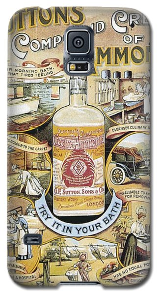 Galaxy S5 Case featuring the photograph Sutton's Compound Cream Of Ammonia Vintage Ad by Gianfranco Weiss